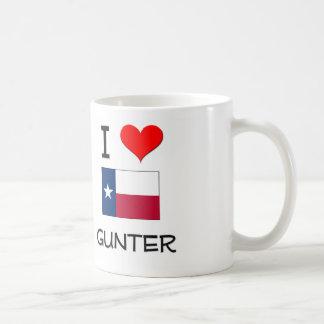 I Love Gunter Texas Coffee Mugs