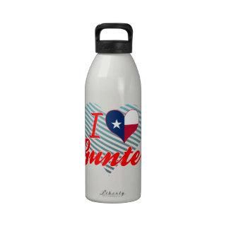 I Love Gunter, Texas Reusable Water Bottles