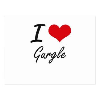 I love Gurgle Postcard