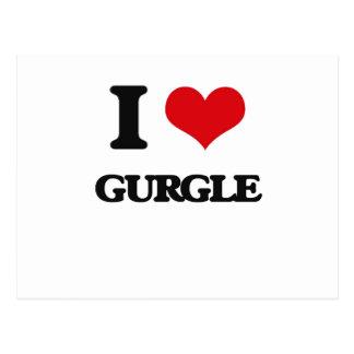 I love Gurgle Post Card
