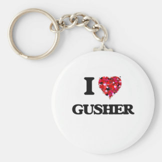 I Love Gusher Key Ring