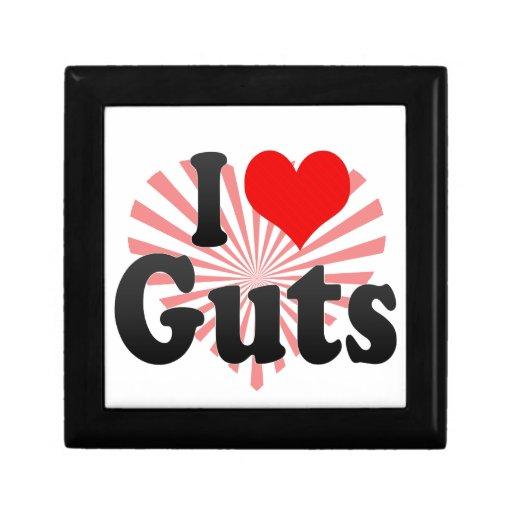 I love Guts Small Square Gift Box
