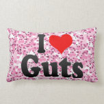 I love Guts Throw Pillows