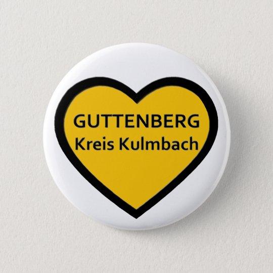 I Love Guttenberg circle Kulmbach 6 Cm Round Badge