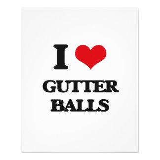 I love Gutter Balls 11.5 Cm X 14 Cm Flyer