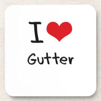 I Love Gutter Beverage Coasters