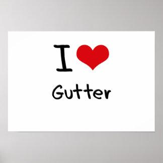 I Love Gutter Print