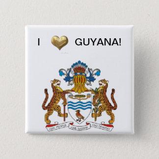 I Love Guyana 15 Cm Square Badge