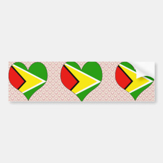 I Love Guyana Bumper Sticker