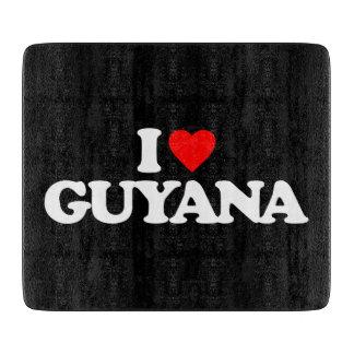I LOVE GUYANA CUTTING BOARD