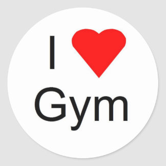 I love gym classic round sticker