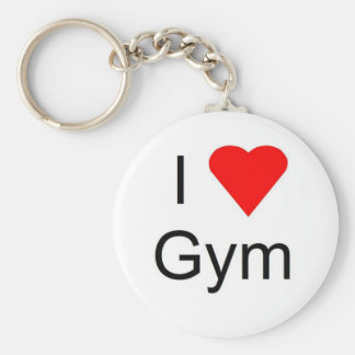 I love gym key ring
