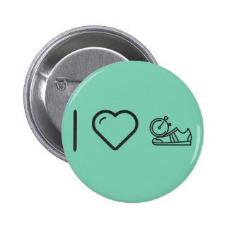 I Love Gymnast Shoes 6 Cm Round Badge