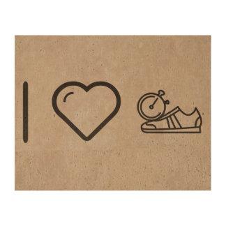 I Love Gymnast Shoes Cork Paper Prints