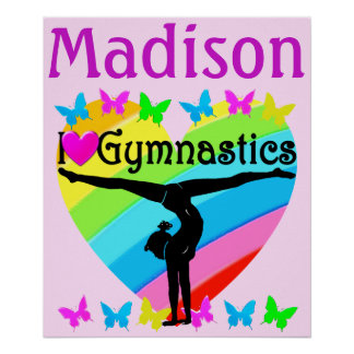 I LOVE GYMNASTIC PERSONALIZED POSTER
