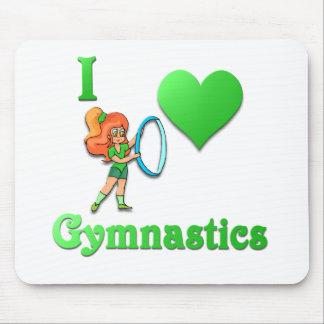 i love gymnastics 2 mouse pads