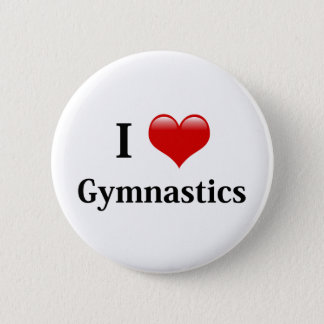 I Love Gymnastics 6 Cm Round Badge