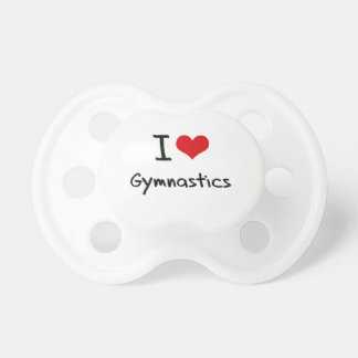 I Love Gymnastics Baby Pacifiers