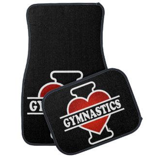 I Love Gymnastics Car Mat