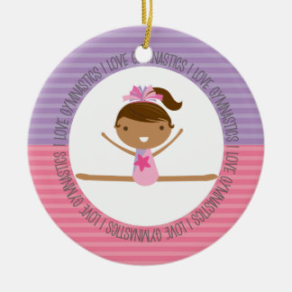 I LOVE GYMNASTICS Christmas Ornament