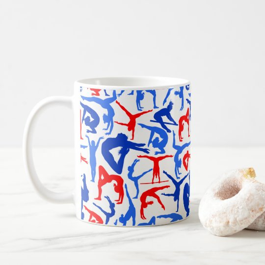 I LOVE Gymnastics Coffee Mug Red, White &