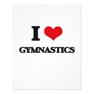 I Love Gymnastics Flyer Design