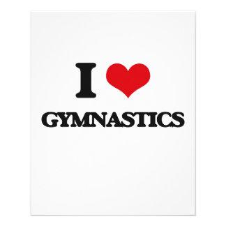 I love Gymnastics Full Color Flyer