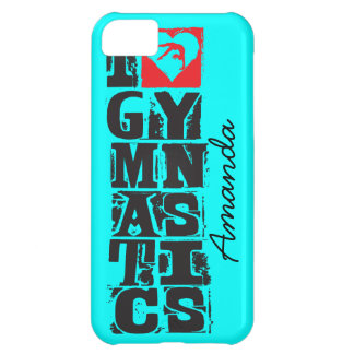 I Love Gymnastics Hunter Personalized iPhone 5C Case