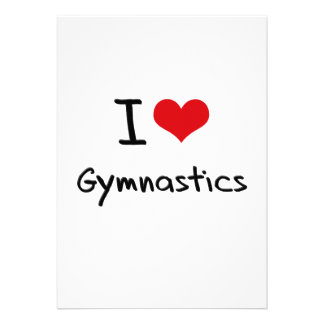 I Love Gymnastics Personalized Announcements