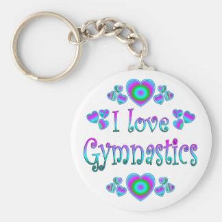 I Love Gymnastics Key Chains