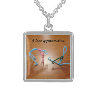 I Love Gymnastics Necklace