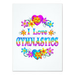 I Love Gymnastics Personalised Announcements