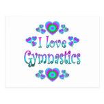 I Love Gymnastics Postcards