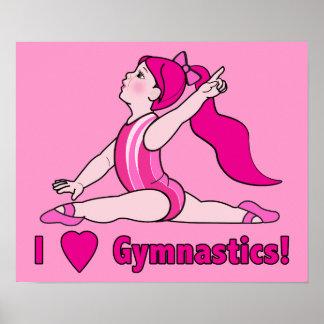 I Love Gymnastics! Print