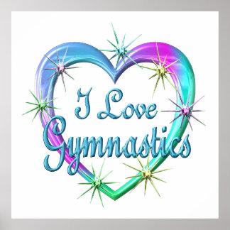 I Love Gymnastics Poster