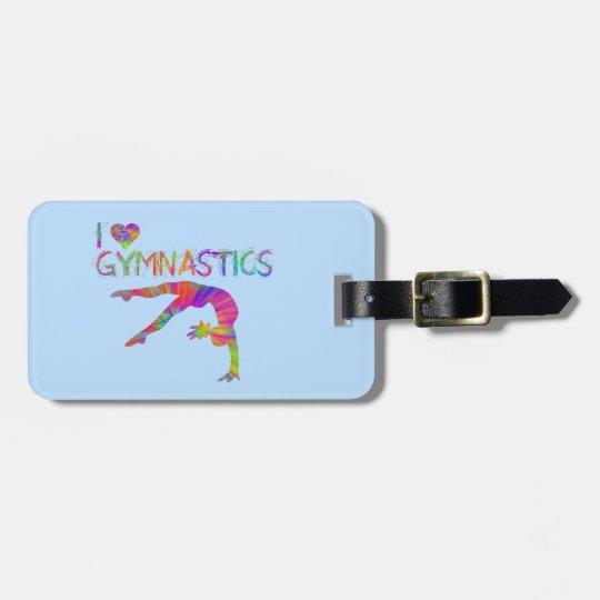 I Love Gymnastics Tie Dye Shirts Bags Stickers