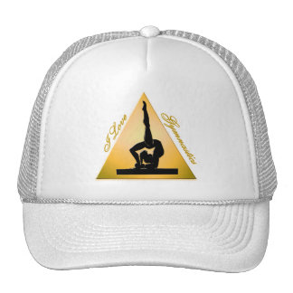 i Love Gymnastics triangle #6 Mesh Hat