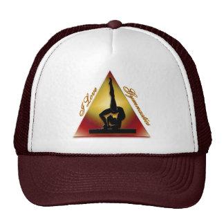 I Love Gymnastics triangle Hat
