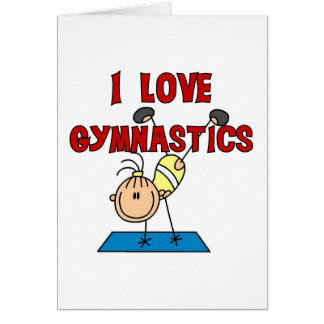I Love Gymnastics Tshirts and Gifts Cards