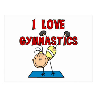 I Love Gymnastics Tshirts and Gifts Postcard