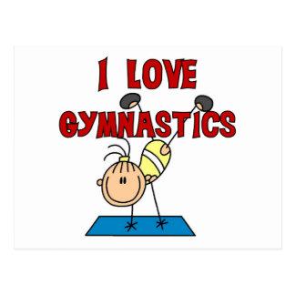 I Love Gymnastics Tshirts and Gifts Postcard