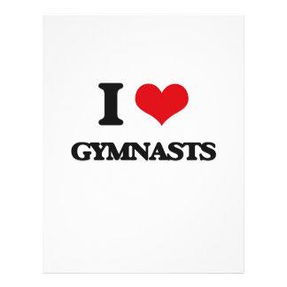 "I love Gymnasts 8.5"" X 11"" Flyer"