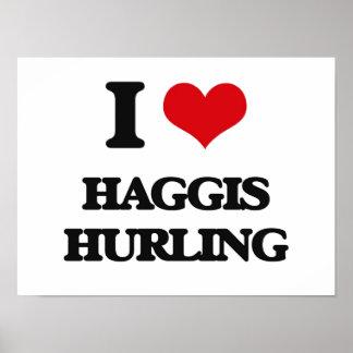 I Love Haggis Hurling Print