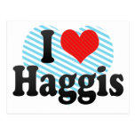I Love Haggis Postcard