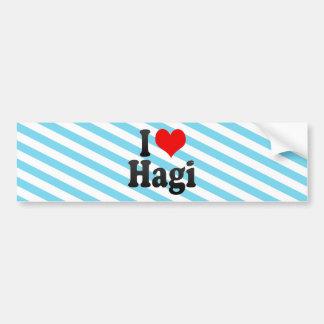 I Love Hagi Japan Bumper Stickers