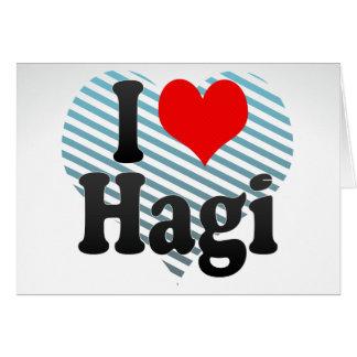I Love Hagi Japan Greeting Cards