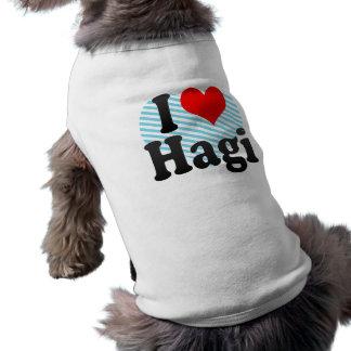 I Love Hagi Japan Dog Clothing