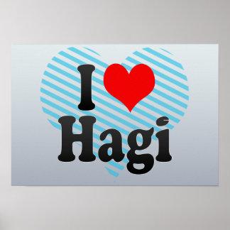 I Love Hagi Japan Posters
