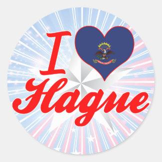I Love Hague, North Dakota Sticker