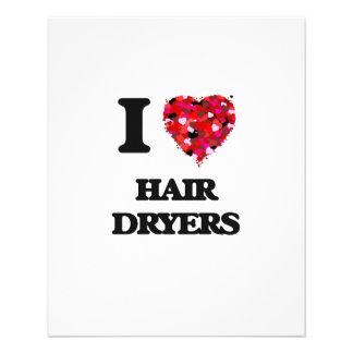 I Love Hair Dryers 11.5 Cm X 14 Cm Flyer